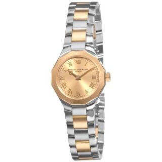 Baume & Mercier Womens Riviera Two tone Gold Dial Watch