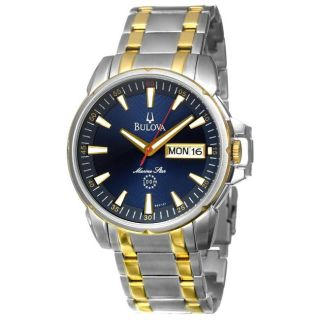 Bulova Mens Marine Star Two tone Stainless Steel Quartz Date Watch