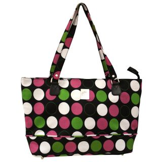 Jenni Chan Multi Dots 17 inch Polyester Laptop Tote with Zip Top Today