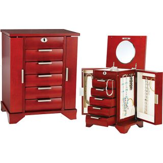Seya Lock and Key Cherry Wood Jewelry Box