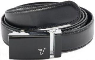 Mission Belt Mens Black Leather Ratchet Belt   Large