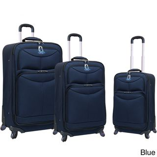 Travelers Club Ford Focus Series 3 piece Expandable Spinner Luggage