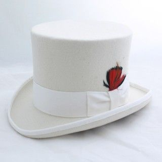 Ferrecci Mens Elegant Off White Top Hat