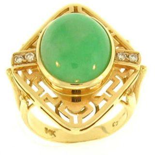 Mason Kay Natural Green Jadeite Jade Ring