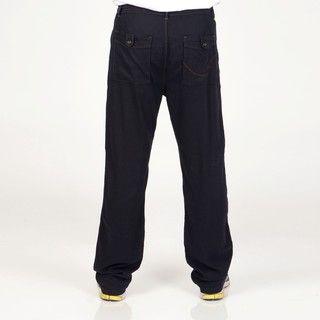 Seduka Jeans Mens Black Linen blend Drawstring Pants