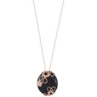 Encore by Le Vian 14k Gold Onyx and 1/4ct TDW Diamond Necklace (H I