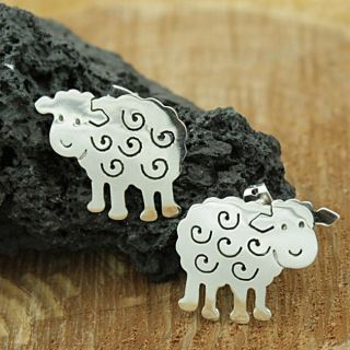 Sterling Silver Little Sheep Post Earrings (Mexico)