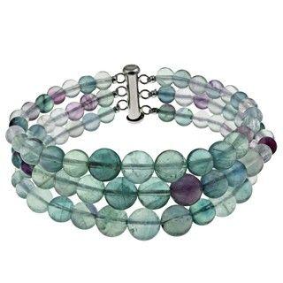Pearlz Ocean Sterling Silver Fluorite Journey Bracelet