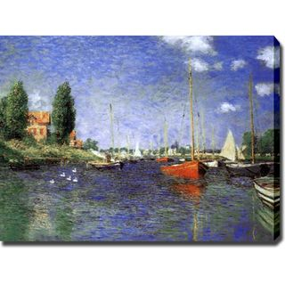 Claude Monet Red Boats at Argenteuil Repro Gallery wrapped Canvas