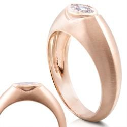 14k Rose Gold 1/2ct TDW Diamond Solitaire Marquise Ring (G H, I1 I2