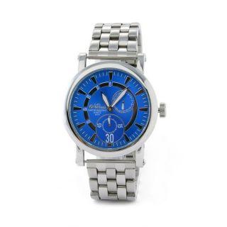 Nemesis Mens Elegant Racing Gauge Blue Stainless Steel Watch