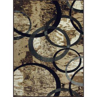 Allestra Circle of Life Grey Rug (4 x 6)