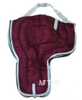 Western Youth Horse Saddle Carrying Bag Burgundy Sports