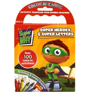 Super Why Color and Carry Activity Book