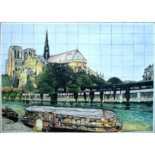 Paris Notre Dame Seine Mosaic Tiles (Set of 140)