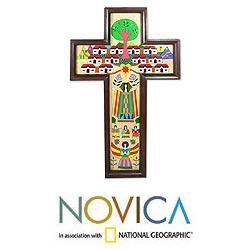 Handcrafted Pinewood Village of Love Cross (El Salvador)
