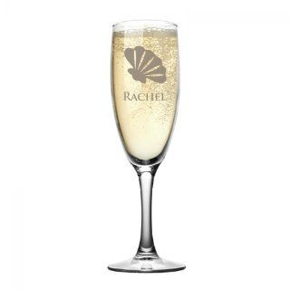 Seashell Personalized Champagne Flute