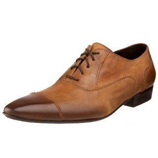 Donald J Pliner Mens Clyde Oxford,Camel,7 M US Shoes