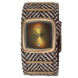 Nixon Mens Antique Coppertone Steel Duke Watch