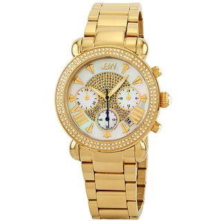 JBW Womens Victory Gold Diamond Chronograph Watch