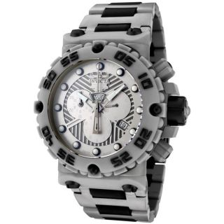 Invicta Mens Subaqua Grey Stainless Steel & Black Rubber Chrono Watch
