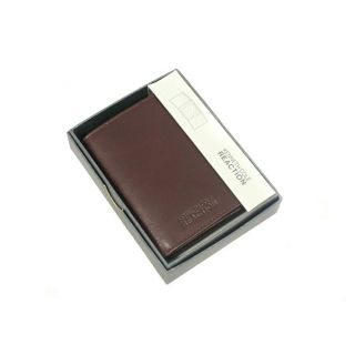 Kenneth Cole Reaction Mens Brown Leather Tri fold Wallet