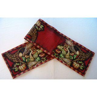 Harvest Cornucopia Tapestry 70 Table Runner