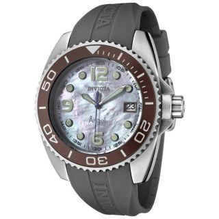 Invicta Womens Angel Dark Grey Rubber Strap Watch