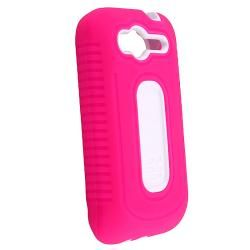 Pink/ White Duo Shield Case for HTC Wildfire S