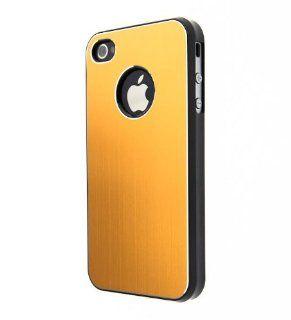 Gold CASE123 Ultra Slim Brushed Aluminum Snap On back Case