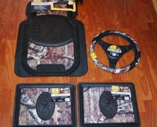 BROWNING BUCKMARK MOSSY OAK CAMO FLOOR MAT SET PLUS
