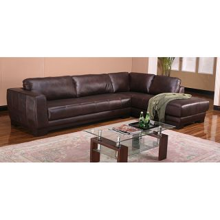 Chocolate Leather Sectional Sofa