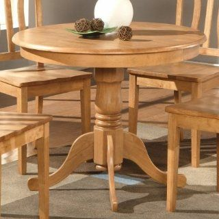 Wooden Imports AD01 T OAK Antique Table 36 in. Round   Oak