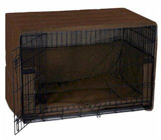 Side Door Dog Crate Cover   Extra Large/Coco Brown Pet