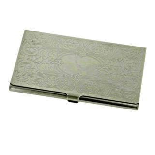 Antique Brass plated Business Card Holder