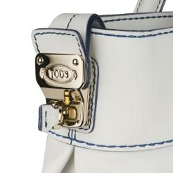 Tods D Styling White Leather Satchel