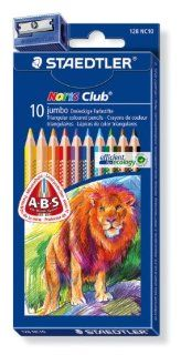 Staedtler Jumbo Colored Pencils, 4mm. Box of 10 (128NC10
