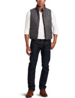 Faconnable Tailored Denim Mens Reversible Vest Clothing
