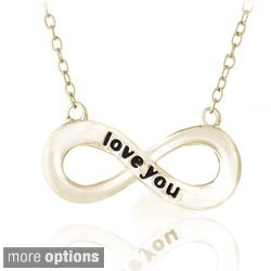 Mondevio Sterling Silver Inspirational Love You Infinity Necklace