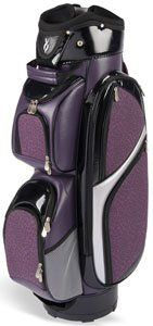 Nancy Lopez Ladies Princess Cart Golf Bags   Black Purple