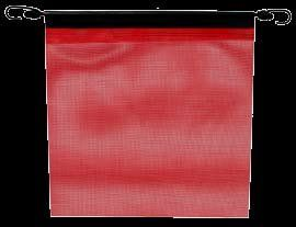 Red Mesh Truck Trailer Safety Flags 18x18 w Bungees