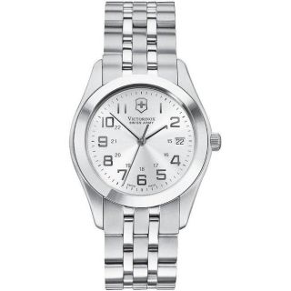 Swiss Army Mens Alliance Stainless Steel Silver Dial Watch