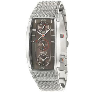 Skagen Mens Sport Stainless Steel Grey Dial Quartz Watch