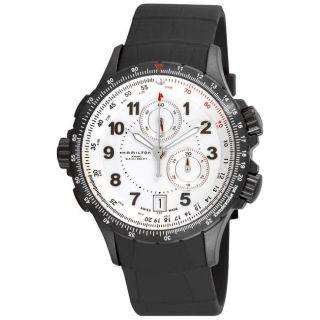 Hamilton Mens Khaki ETO Rubber Strap Quartz Chronograph Watch