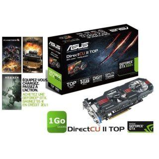 Asus GTX650 Ti 1Go GDDR5 DirectCU II Top   Achat / Vente CARTE