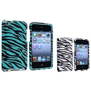BasAcc White/ Blue Zebra Case for Apple® iPod touch 4th Generation