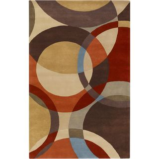 Hand tufted Contemporary Multi Colored Circles Mayflower Wool