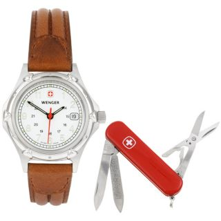 Wenger Standard Issue Womens Watch/ Swiss Army Knife/ Gift Set
