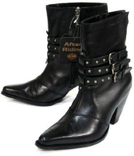 New Harley Davidson Bette Boot Blk Ladies 7 $130 Shoes