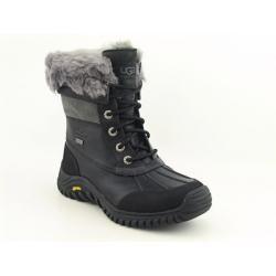 UGG Australia Womens Black/ Grey Adirondack Snow Boots (Size 6
